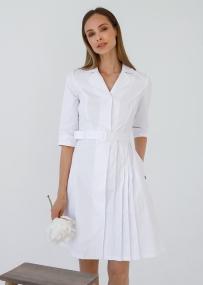 Медицинский халат с плиссированной юбкой